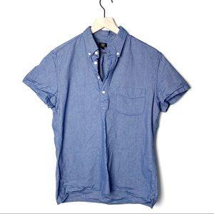 J. crew Henley Oxford Button Down Shirt